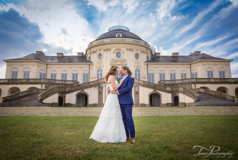 Hochzeitsfotografie am Schloss Solitude